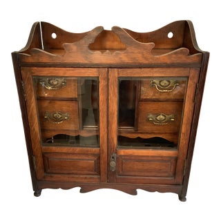 19th Century Antique Victorian Tobacco Cabinet For Sale