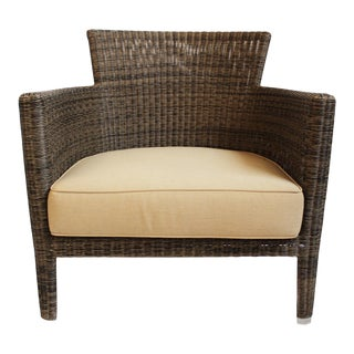 Woven Fiber Patio Lounge Chair For Sale