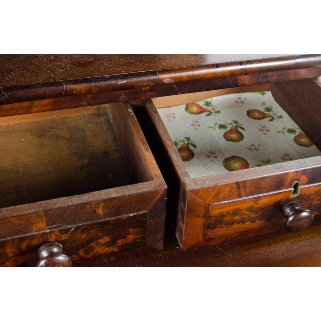 Late 19th Century Antique American Empire Mahogany Vanity Dresser For Sale - Image 9 of 13