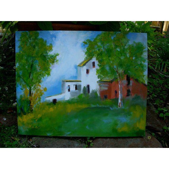 """""""Country Farm"""" Oil Painting Comes Framed For Sale In Reno/Lake Tahoe - Image 6 of 12"""