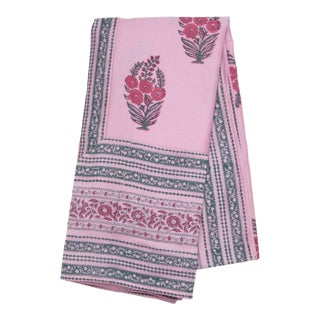 Roza Tablecloth, 6-seat table - Pink & Teal For Sale
