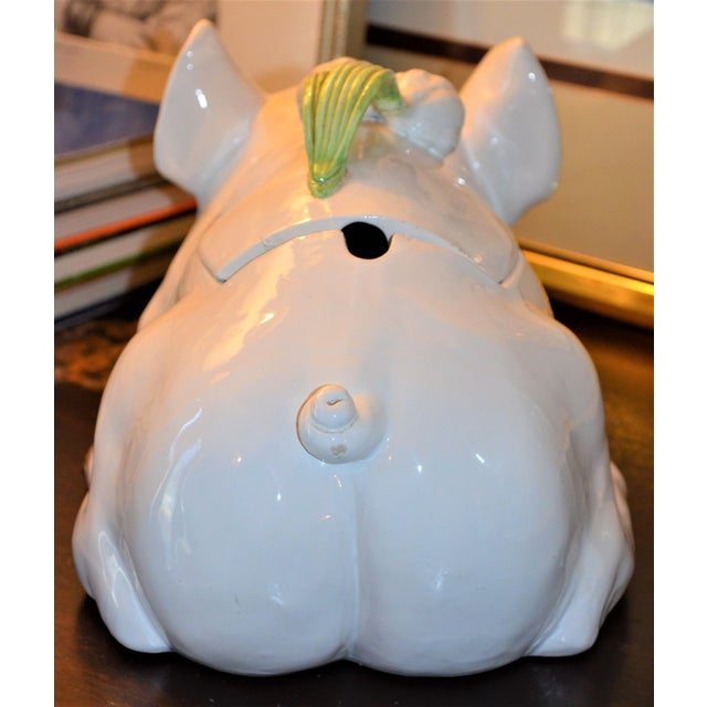 Large Majolica Pig Tureeen - Image 10 of 11