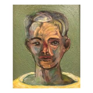 Modern Portrait of a Man by James Bone For Sale