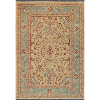 """Mansour Quality Handwoven Agra Rug - 6'1"""" X 8'4"""" For Sale"""
