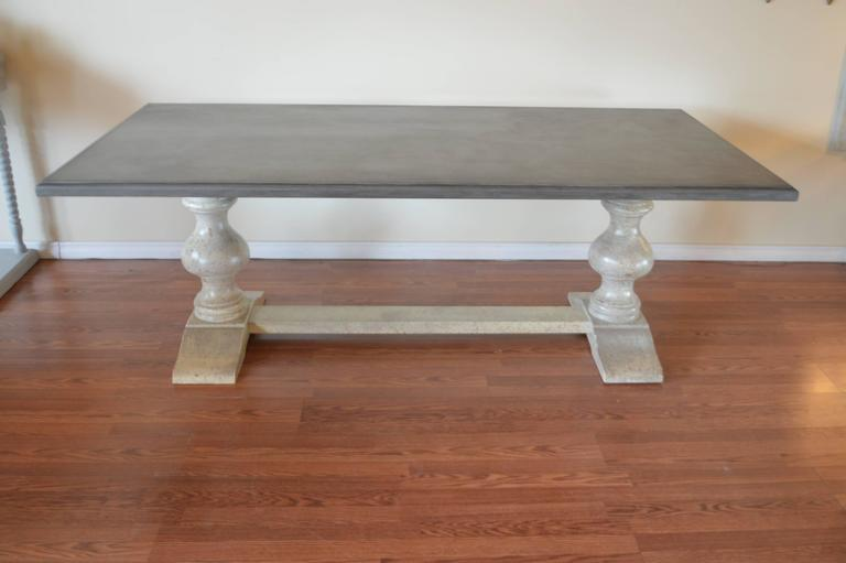 Painted Long Wooden Dining Table, Made In Italy For Sale   Image 4 Of 7