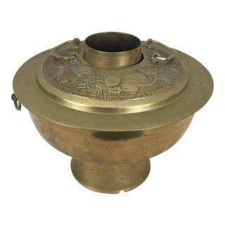 Vintage Dragon Brass Hot Pot