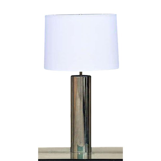 1970s George Kovacs Minimalistic Chrome Cylinder Table Lamp For Sale