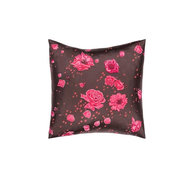 "Contemporary ""La Rosee"" Hermès Silk Scarf Pillow For Sale - Image 3 of 3"
