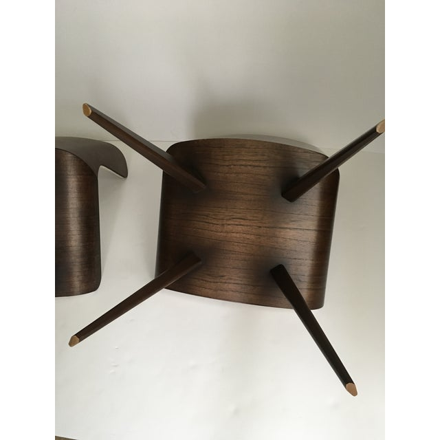 Mid-Century Style Wood Wrapped Accent Chairs- a Pair For Sale - Image 10 of 13