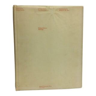 1979 Philip Johnson Writings Book