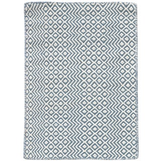 Bella Modern Blue Hand-Woven Rug 4'x6' For Sale