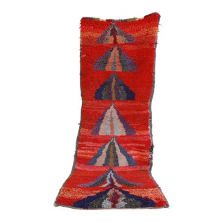 1980s Moroccan Azilal Runner Rug - 3′3″ × 8′11″ For Sale