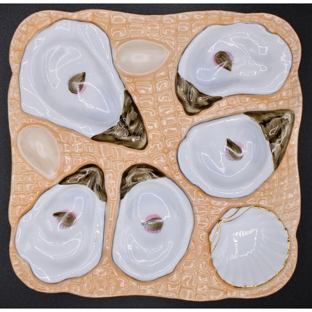1960s Sunset Orange Oyster Plate For Sale - Image 10 of 11