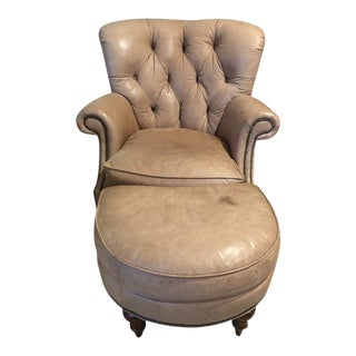Late 20th Century Century Furniture Leather Chair and Furniture For Sale