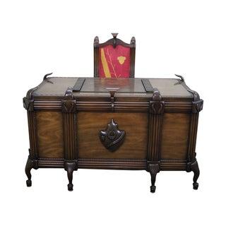 Art Deco Custom Executive Desk and Chair For Sale