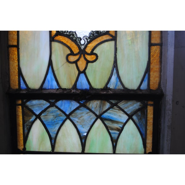 Antique Stained Glass Church Window - Image 6 of 8