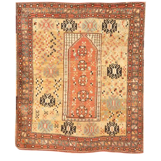 Rare and Unusual Antique Turkish Melas Rug For Sale