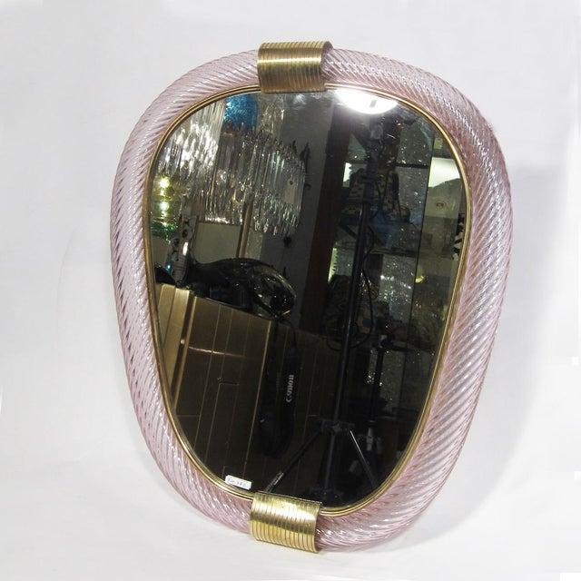 Archimede Seguso 1960s Ritorto Murano Mirror by Seguso For Sale - Image 4 of 5