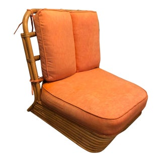 Paul Frankl Pretzel Bamboo Wide Chair For Sale