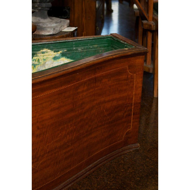 Mahogany Floor Planter with Inlay Banding For Sale - Image 4 of 7