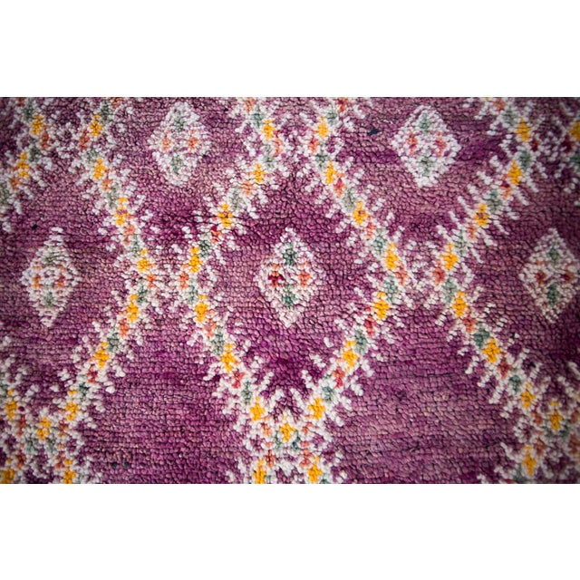 "Vintage Purple Beni Mguild Moroccan Rug - 8'11"" X 6'5"" Ft For Sale - Image 11 of 12"
