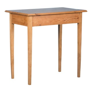 Antique Swedish Country Pine Side Table For Sale
