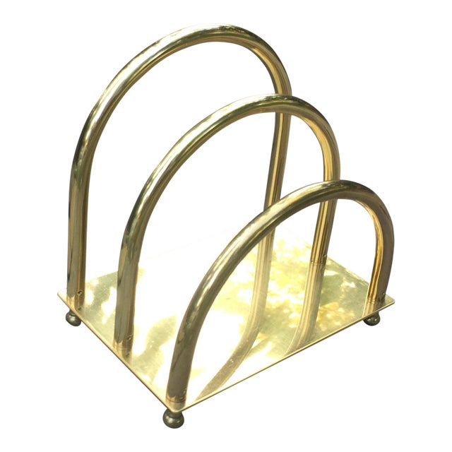 Vintage Brass Art Deco Mail Holder - Image 1 of 7