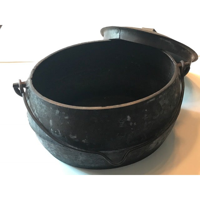 Vintage Large Rustic Cast Iron Dutch Oven - Image 3 of 9