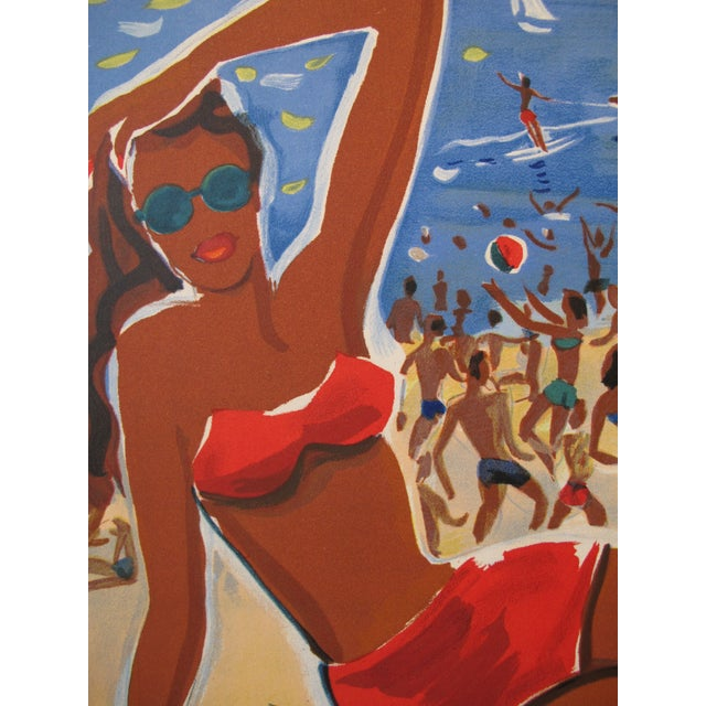 1949 Original French Riviera Travel Poster - Image 2 of 4