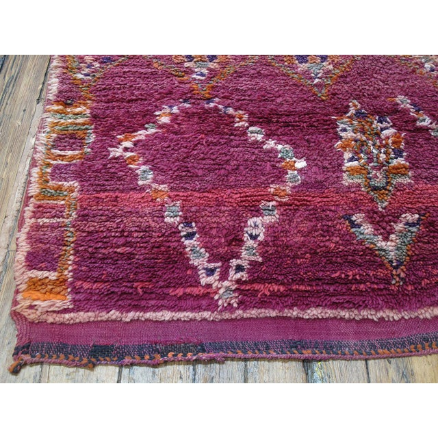 Textile Moroccan Boujad Wool Rug - 6′3″ × 9′4″ For Sale - Image 7 of 8