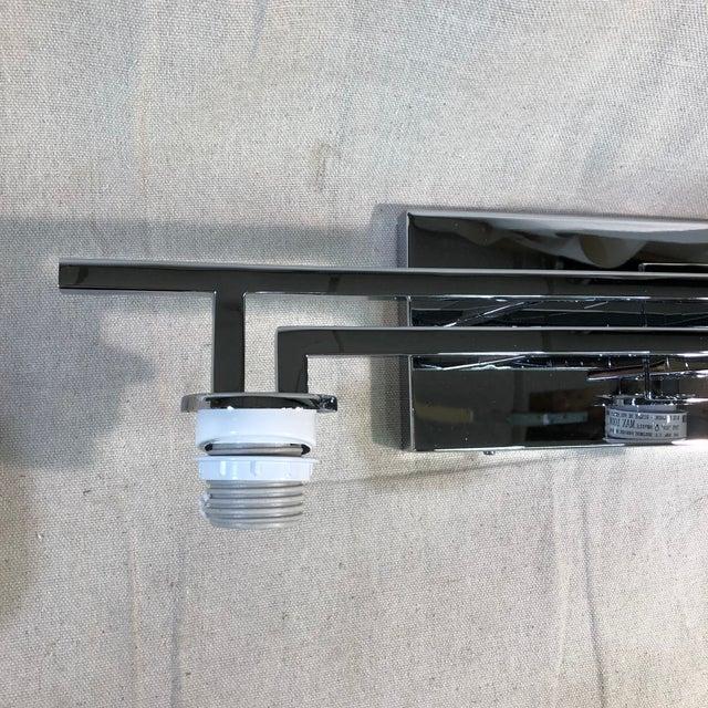 Metal Justice Design 3-Light Polished Chrome Vanity Light For Sale - Image 7 of 12