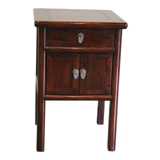19th Century Chinese Elm Side Table For Sale