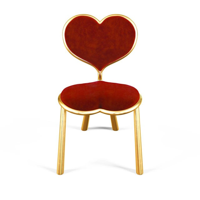 Abstract Cast Bronze Heart Chair by Artist Troy Smith - Contemporary Design - Limited Edition For Sale - Image 3 of 8