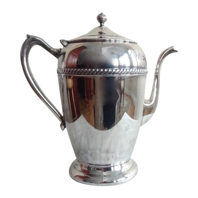 Vintage 1950s Silver-Plate Tea Service Pot - Image 1 of 5