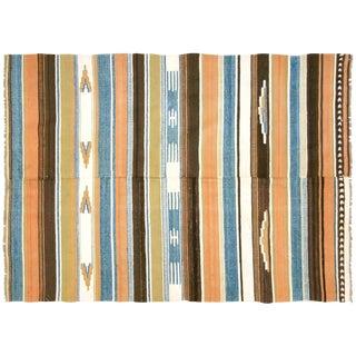 """1950s Turkish Striped Kilim - 3'10"""" X 5'4"""""""