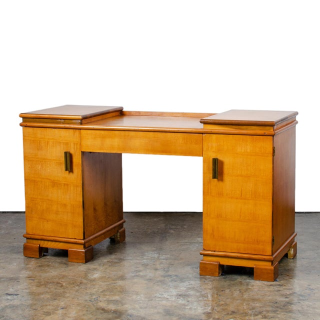1930s Art Deco Donald Deskey for Amodec Vanity Desk For Sale - Image 13 of 13