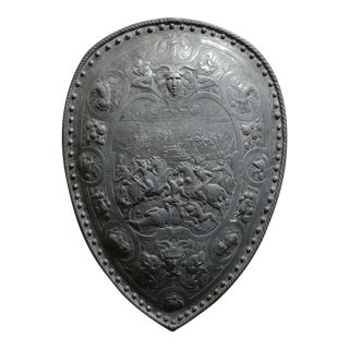19th Century Gothic Metal Wall Shield
