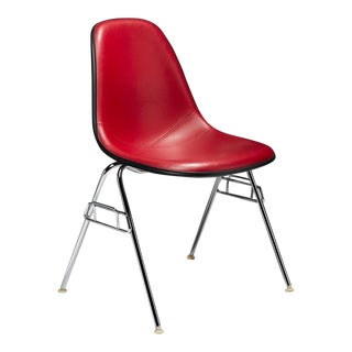Mid Century Modern Red Padded Eames Shell Chairs Herman Miller - Set of 9