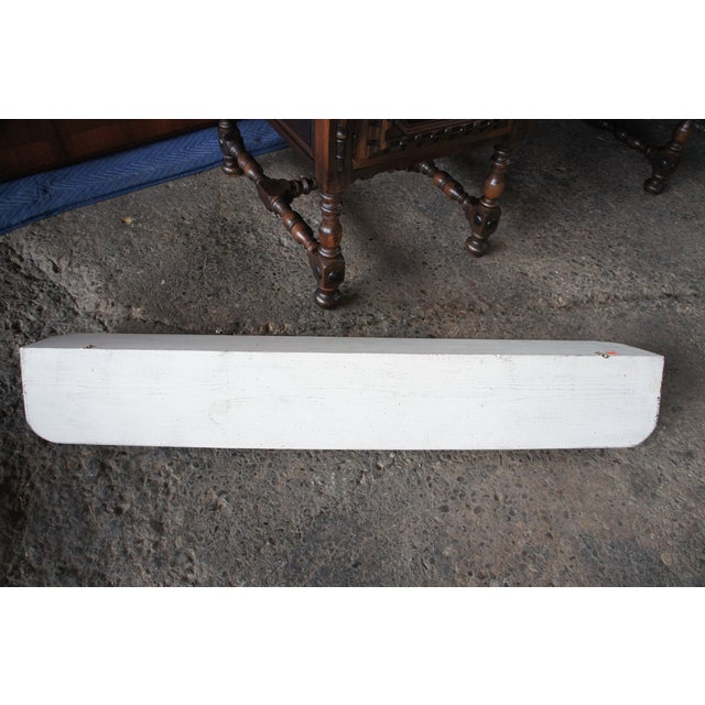 20th Century Country White Oak Wall Mount Hanging Shelf For Sale - Image 4 of 9
