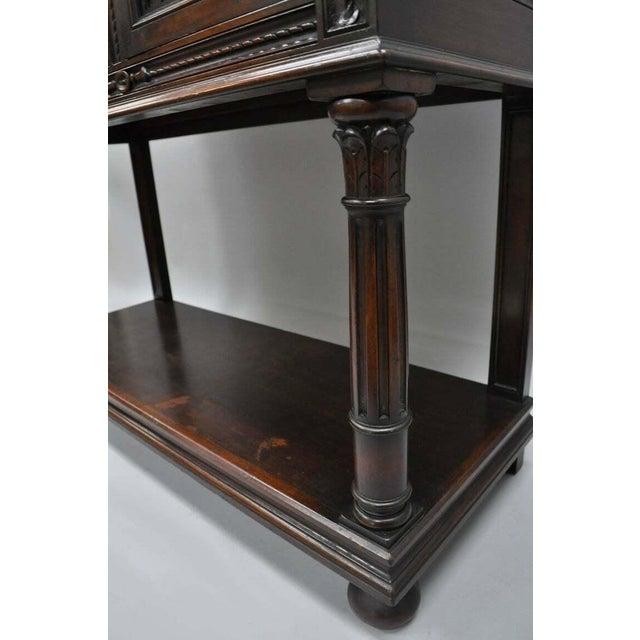 Antique Renaissance Revival Figural Carved Walnut Cabinet For Sale In Philadelphia - Image 6 of 11
