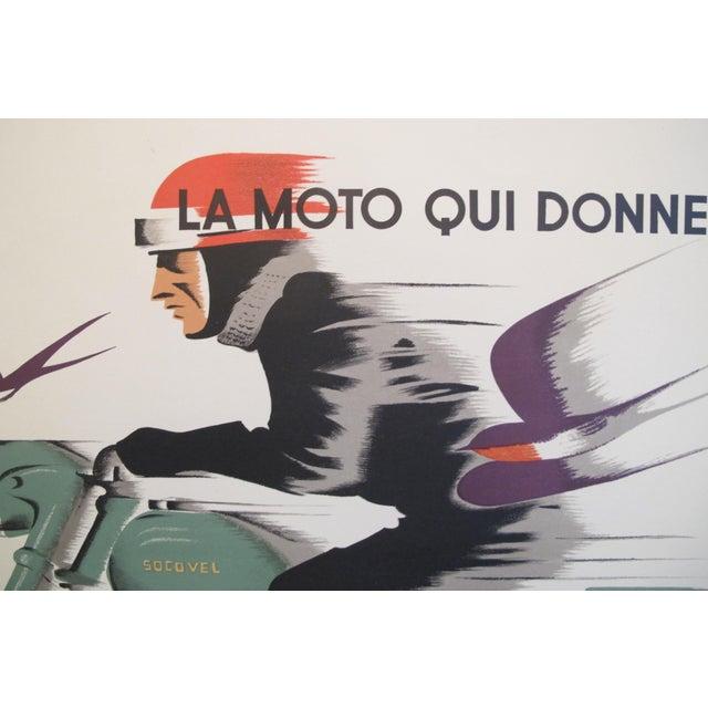 1940s Belgian Art Deco Motorcycle Poster - Image 3 of 5
