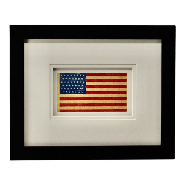 Antique Framed 45 Star American Flag, 1896 For Sale