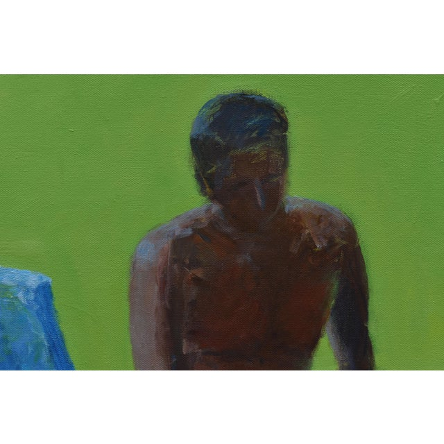 """Canvas """"Resting in the Shade"""", Stephen Remick Contemporary Painting For Sale - Image 7 of 13"""