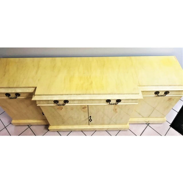 Mid-Century Modern Vintage Lacquer Sideboard By Karges Furniture For Sale - Image 3 of 13