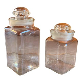 Pair of Antique Candy Jars From a General Store For Sale