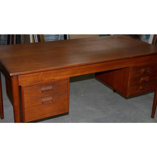 Mid 20th Century Vintage Danish Modern Teak Desk by Børge Mogensen for Søborg Møbler C.1960s For Sale - Image 5 of 10