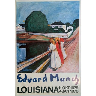 "Edvard Munch ""Louisiana"" 11 Okt-1975 to 4 Jan 1976 Over-Size Original Lithographic Museum Exhibition Poster For Sale"