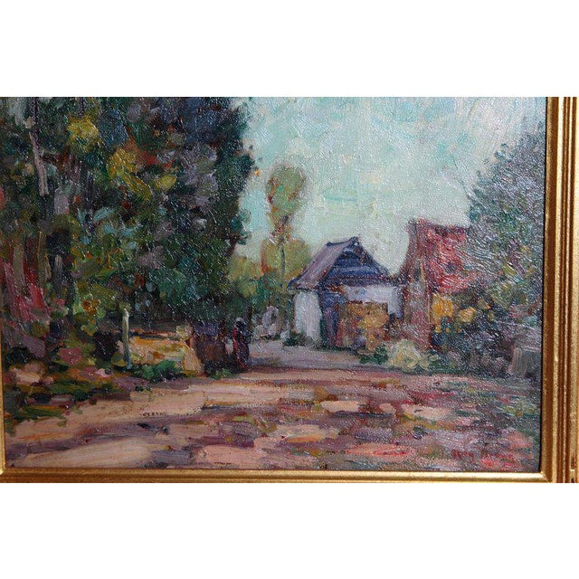 Early 20th Century American Impressionistic Oil on Board by Roy Brown (American, 1879-1956) For Sale - Image 5 of 13
