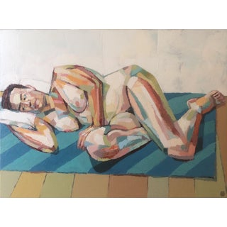 Contemporary Oil Painting by Andy Dobbie, Reclining Nude III (Ennui) For Sale