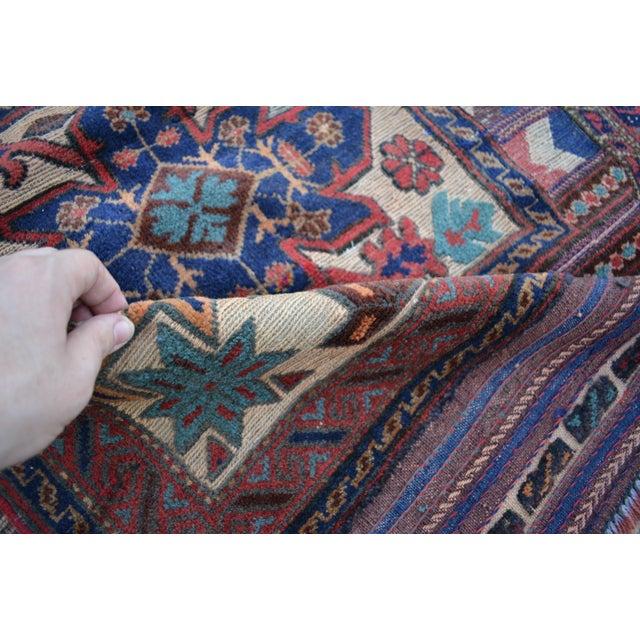 Tribal Afghan Burjesta Kilim Rug - 4′4″ × 6′1″ For Sale - Image 4 of 5